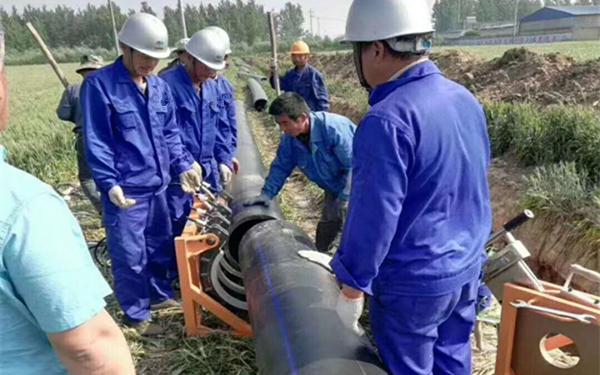 pe给水管使用现场施工